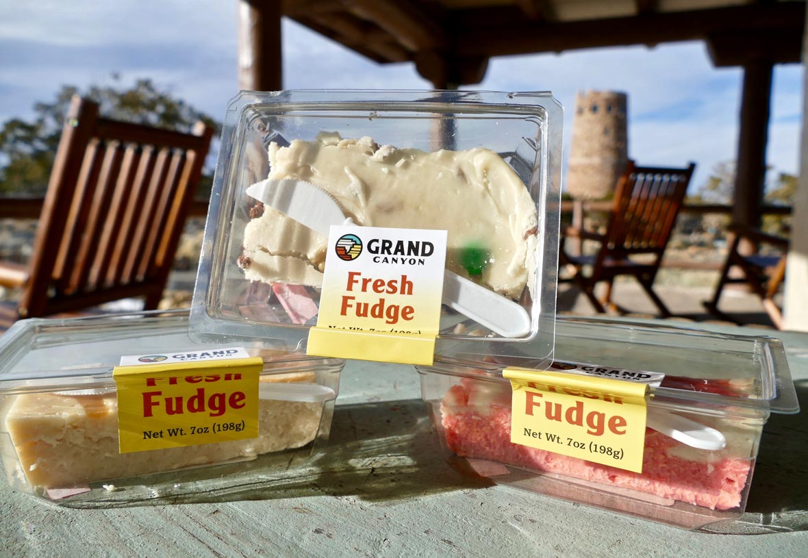 Enjoy fresh fudge made from scratch at Desert View Ice Cream at Grand Canyon National Park
