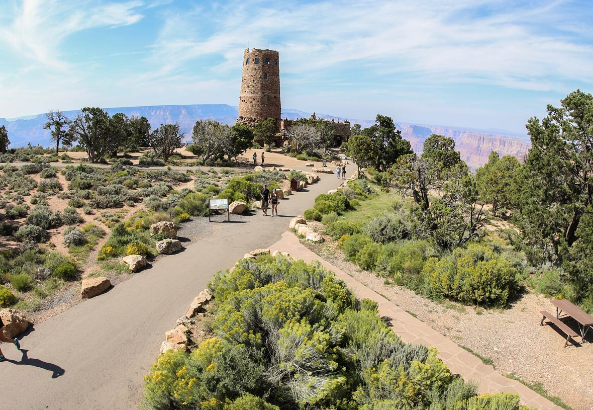 Take a walk around Desert View on the Grand Canyon South Rim