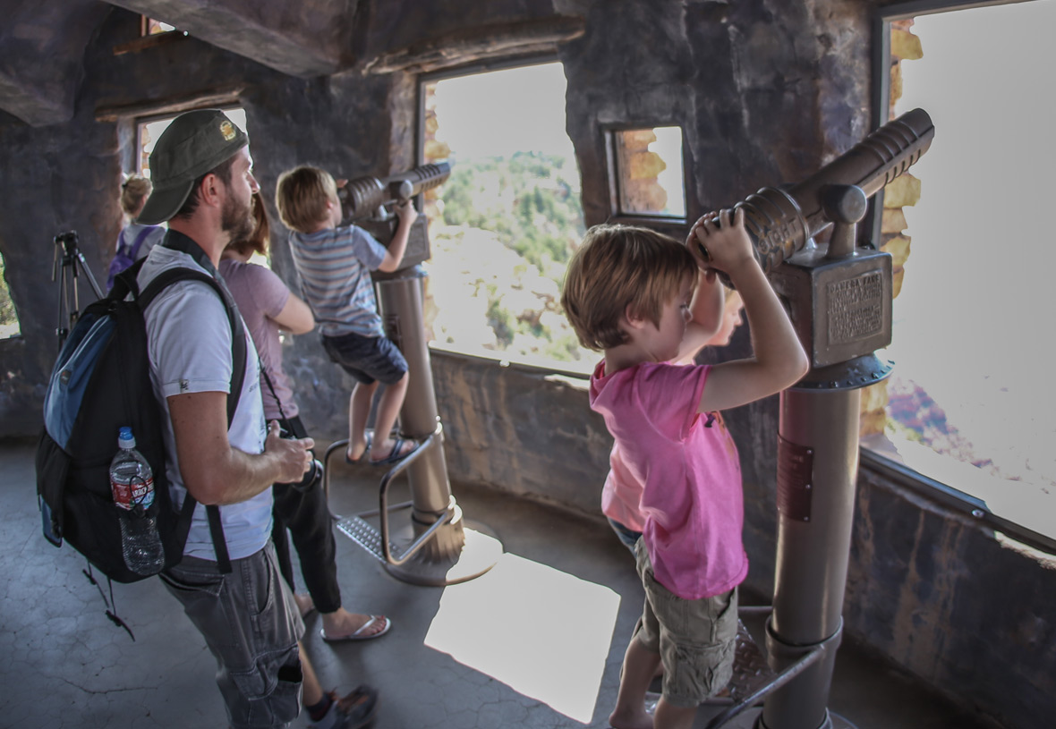 Use the telescopes at the top of the Watchtower for even more amazing views.