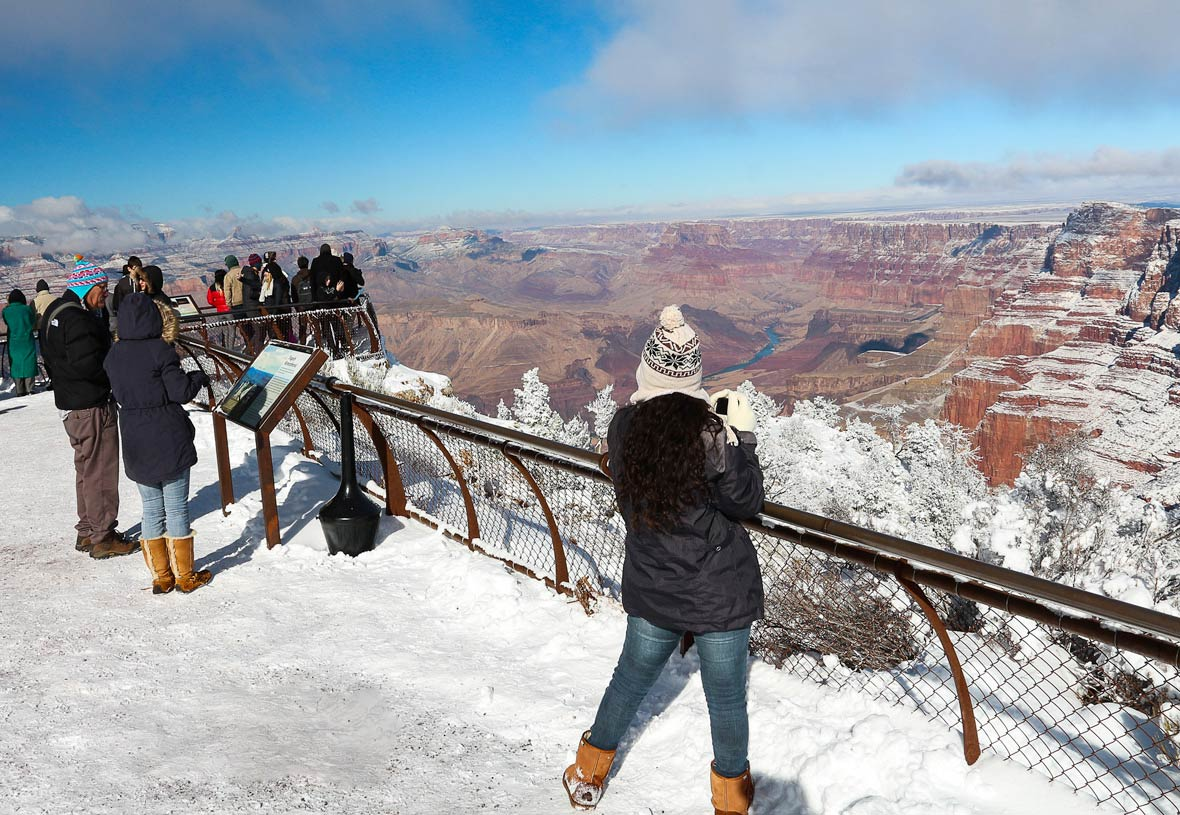 Grand Canyon Winter South Rim View