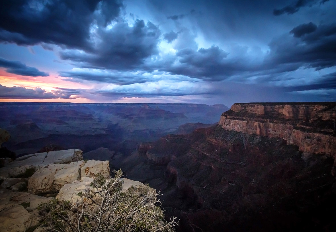 Even a stormy sky is beautiful at the Grand Canyon