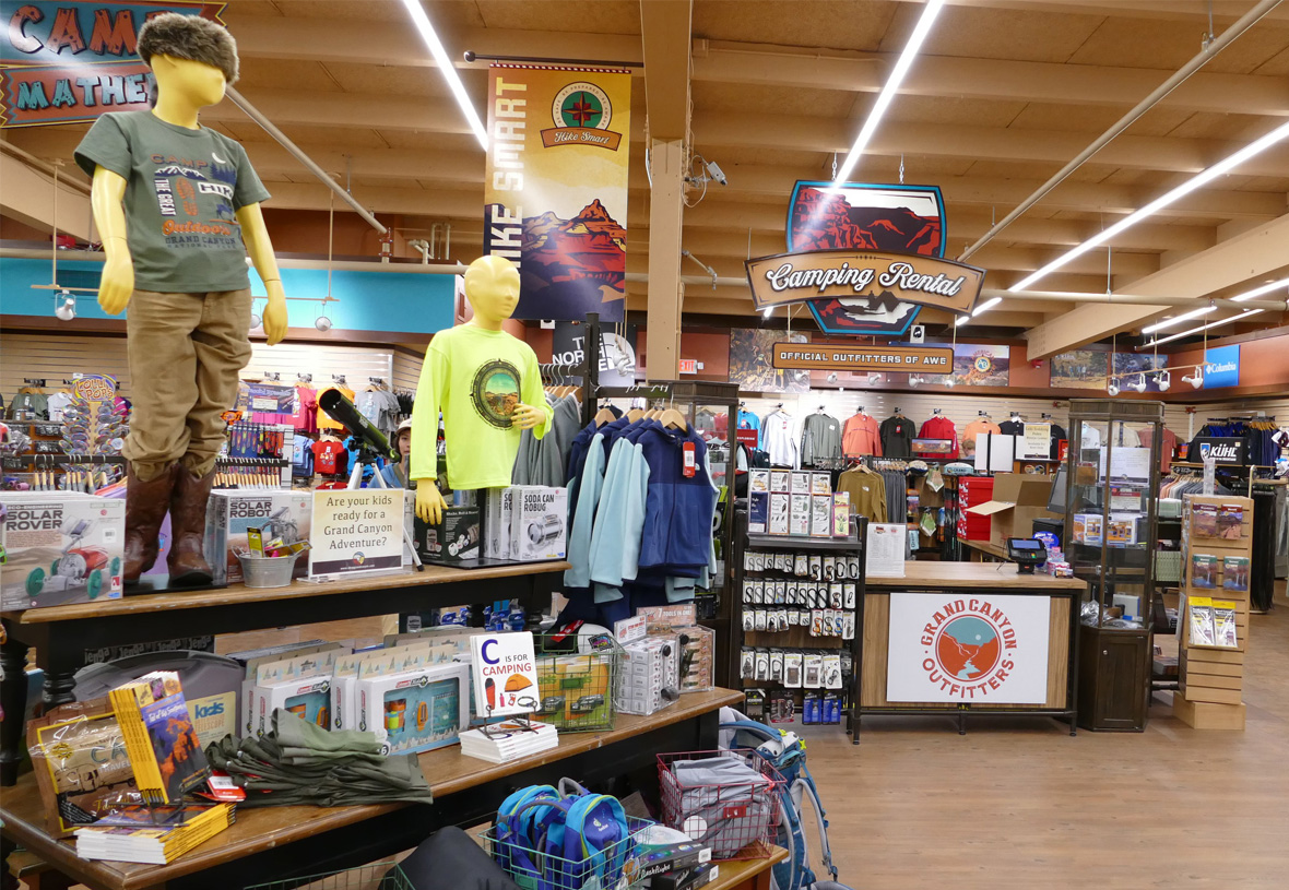 Kids clothing and gear at Grand Canyon Outfitters