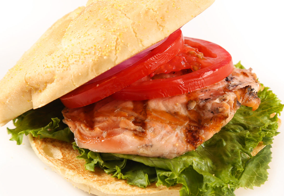 Yavapai Lodge Restaurant Salmon Burger