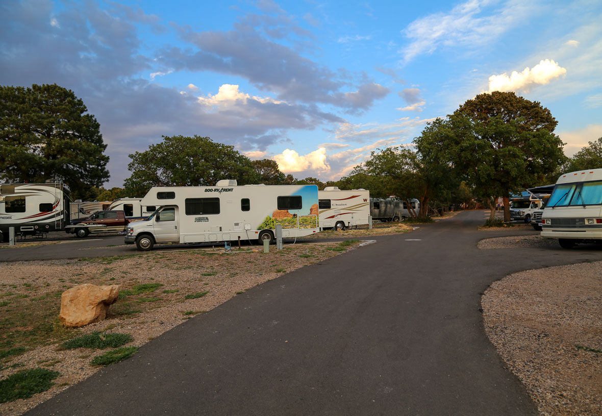 Grand Canyon Trailer Village at Sunset