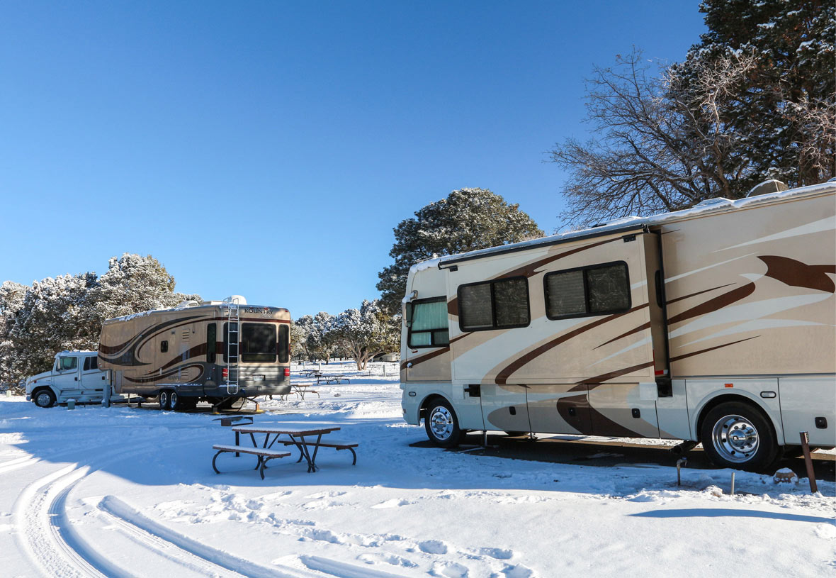 Experience Grand Canyon in Winter at Trailer Village RV Park
