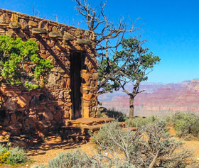 Lookout Studio at the South Rim of Grand Canyon National Park