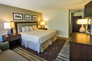 Interior of a Yavapai Lodge guest room